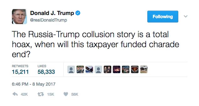Trump Tweet Russia scandal